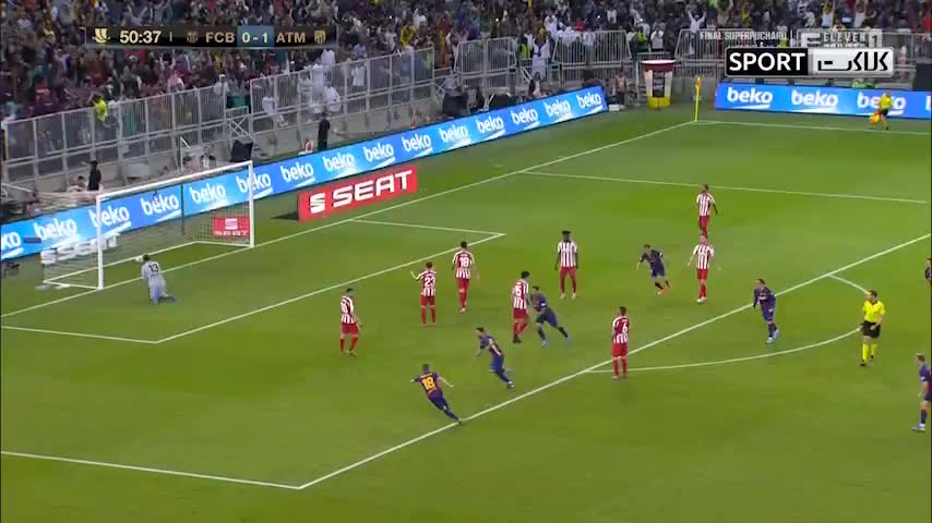 خلاصه بازی بارسلونا 2-3 اتلتیکومادرید