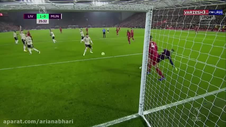 خلاصه بازی لیورپول ۲ - ۰ منچستریونایتد