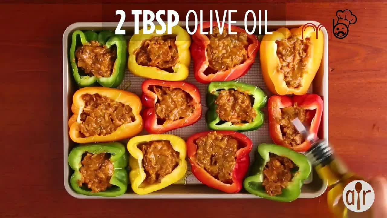 آموزش آشپزی طرز تهیه فلفل دلمه ای شکم پر - بلونیز ایتالیایی (میرزاشف)