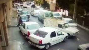 جی تی ای در تهران؛ اقدام به فرار راننده وانت