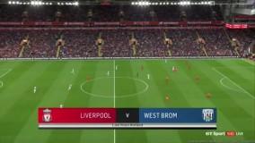 خلاصه بازی لیورپول 2 - 1 وست برومویچ