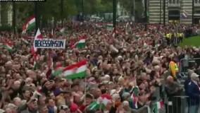 زد و خورد در حاشیه مراسم سالگرد خیزش ضد کمونیستی در مجارستان