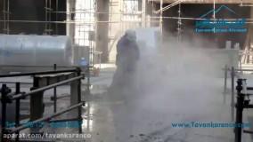 عملیات تخریب بتن با استفاده از واترجت فوق فشارقوی