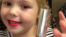 آموزش میکاپ توسط دختر کوچولوی 4 ساله