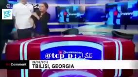 دعوا و درگیری شدید در برنامه زنده تلویزیونی ترکیه
