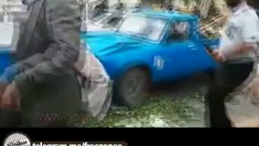 تیر اندازی پلیس به سایپایی که با پلیس تصادف میکند