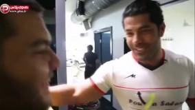معروف ترین پسر چاق ایران، حمام باشگاه سوپرلوکس تهران را بهم ریخت