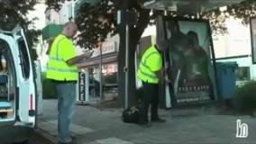 شوخی جالب با مسافران در ایستگاه اتوبوس