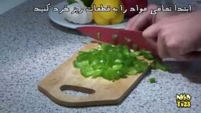 آموزش آشپزی - پاستا با سس سیر - Pasta
