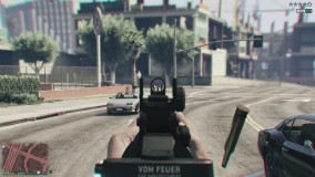 نگاه اول شخص در بازی GTA V و شلیک به پلیس ها