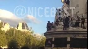 سقوط وحشتناک از بالای مجسمه آزادی