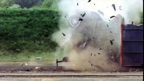 تست تصادف اتومبیل با بتن مسلح ویژه