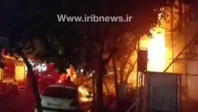 آتش گرفتن خانه ای در تهران بر اثر انفجار