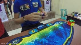جدیدترین رکورد حل مکعب روبیک در 4.74 ثانیه