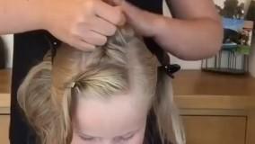 آموزش بافت موی زیبا و ساده برای دختر بچه ای ناز