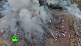 بازار افزار های آتش بازی مکزیک منفجر شد