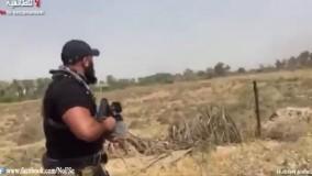 درگیری ابوعزراییل و نیروهایش با تک تیراندازان داعش