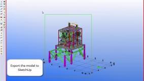انتقال مدل از TEKLA Structures به Sketchup