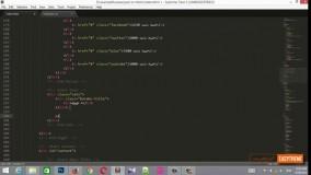 آموزش تبدیل psd به html قسمت 12 - منوی مجموعه ها