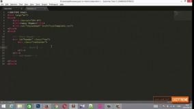 آموزش تبدیل psd به html قسمت پنجم - لوگو و منوی اصلی