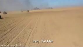 حمله هلی کوپترهای ارتش عراق به انتحاری داعش در تلعفر