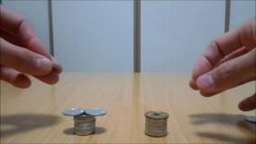 روی هم چیدن سکه ها به شیوهای باورنکردنی