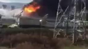 فیلم/ وقوع یک آتش سوزی بزرگ در یکی از پالایشگاه های نفت