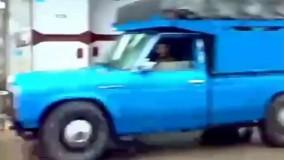 قسمتی از قدرت وانت نیسان آبی ؛ حرکت عجیب راننده وانت