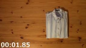 تا کردن پیراهن در 2 ثانیه