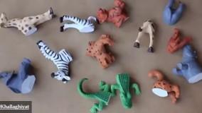 ایده ای جذاب برای مجسمه پلاستیکی حیوانات
