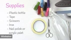 ساخت دستبند با بطری پلاستیکی