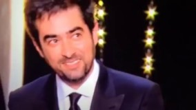 فیلم لحظه دریافت جایزه بهترین بازیگر جشنواره کن توسط شهاب حسینی