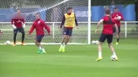 تمرین امروز تیم ملی انگلیس