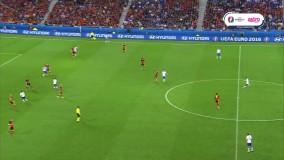گل اول جاکرینی در بازی ایتالیا - بلژیک