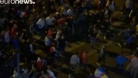تماشاگران فوتبال اینبار در شهر لیل آشوب به پا کردند