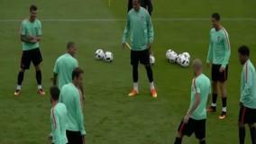 تمرینات پرتغال قبل از بازی با اتریش