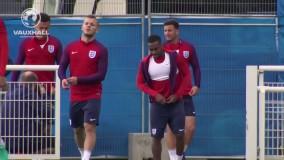 تمرینات تیم ملی انگلیس پیش از بازی اسلواکی