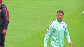 تمرینات تیم ملی پرتغال پیش از بازی با مجارستان
