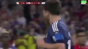 گل فوق العاده مسی به امریکا در کوپا امریکا