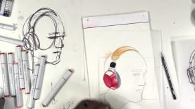 طراحی فوق حرفه ای اسکچ هدفون