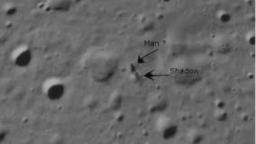 دیده شدن تصویر عجیب انسان روی ماه