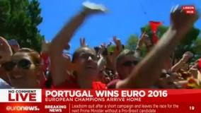 مراسم استقبال مردم پرتغال از تیم ملی کشورشان