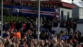 استقبال گسترده مردم ایسلند از تیم فوتبال کشورشان