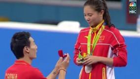 خواستگاری ورزشکار چینی بعد از مراسم اهدای مدال