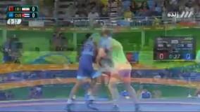 شکست قاسم رضایی مقابل کوبا (المپیک 2016 ریو)