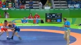 پیروزی امید نوروزی مقابل ونزوئلا (المپیک 2016 ریو)