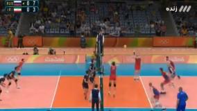 والیبال ایران ۰-۳ روسیه (المپیک ریو 2016)
