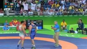 پیروزی قاسم رضایی مقابل سوئد و کسب مدال برنز (المپیک ریو 2016)