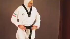 تمرین کیمیا علیزاده برای ژستی که می خواسته پس از برنده شدن بگیرد