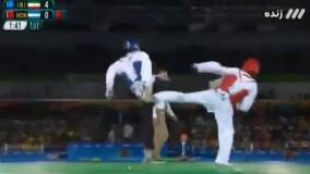 پیروزی مهدی خدابخشی مقابل هندوراس در تکواندو (المپیک ریو 2016)